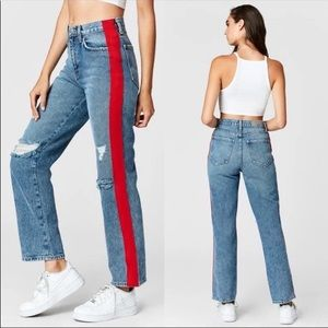 Carmar Ursula Red Tape Racing Stripe Jeans 28